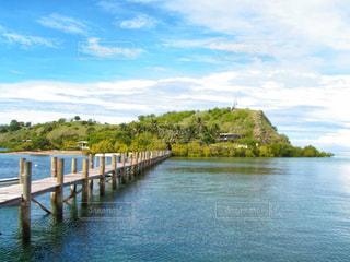 風景,海,島,観光,桟橋,海外旅行,パプアニューギニア