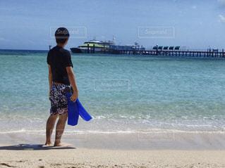 男性,風景,海,船,観光,オーストラリア,海外旅行,グリーン島,ケアンズ