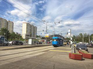 風景,電車,観光,海外旅行,ロシア,モスクワ,レール