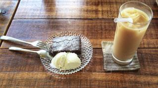 チョコブラウニーケーキの写真・画像素材[1882700]