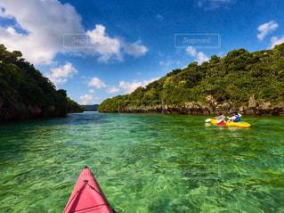 沖縄で夏を満喫の写真・画像素材[2340933]
