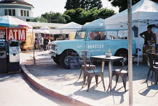 カフェ,海外,青,車,アメリカ,旅行,ロサンゼルス,cafe,フィルム,フリーマーケット,西海岸,クラシックカー,ATM,フィルム写真,フリマ,フィルムフォト