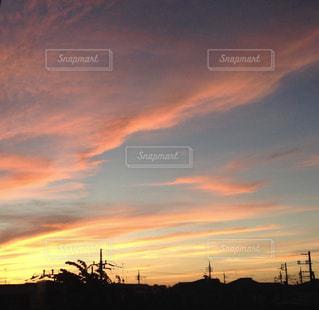 夕焼け空の写真・画像素材[1805706]