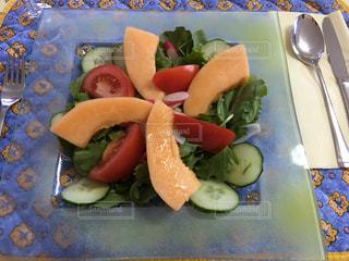 食事,フルーツ,果物,メロン,フルーツサラダ,南仏,メロンサラダ