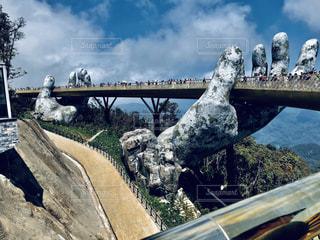 風景,空,橋,海外,観光,旅行,ベトナム,ダナン,映え,神の手