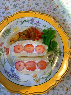 食品のプレートの写真・画像素材[1800295]