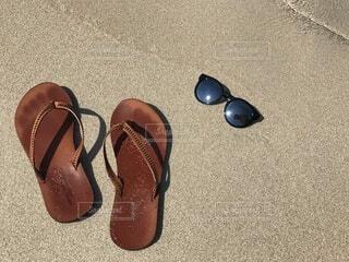 beach sandalsの写真・画像素材[4647577]