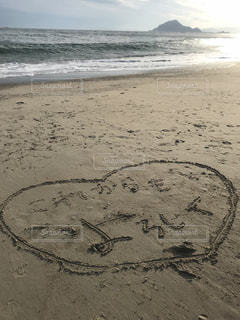 海,砂浜,海岸,手紙,メッセージ,夕陽,愛知県,伊良湖