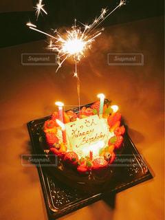 スイーツ,ケーキ,花火,ハート,チョコレート,メッセージ,誕生日,手書き,バースデー