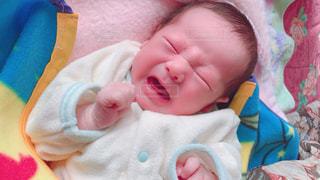 泣き顔の赤ちゃんの写真・画像素材[1789967]