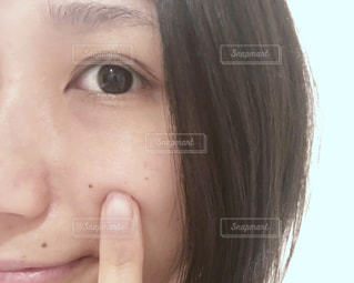 20代,30代,女,素肌,鼻,くま,目,すっぴん,シミ,肌,皮膚,乾燥肌