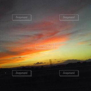 背景の夕日の写真・画像素材[1797357]