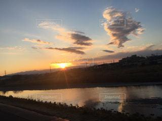 沈む夕日の写真・画像素材[1862068]