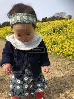 黄色,菜の花,赤ちゃん,幼児,イエロー,菜の花畑,淡路島,1歳