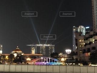 夜景,ビル,観光,シンガポール,海外旅行,マリーナベイサンズ,カベナ橋,シンガポール国会議事堂