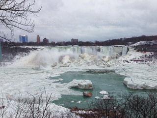自然,冬,カナダ,海外旅行,思い出,ナイアガラの滝