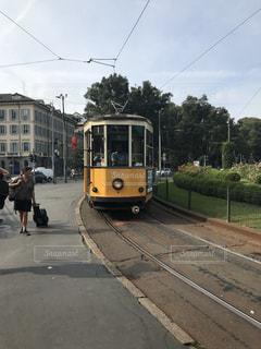 路面電車,黄色,ミラノ