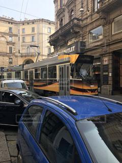 路面電車,路地裏,ミラノ
