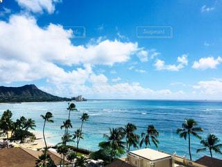 海,空,青,ハワイ,Hawaii,ホノルル,ワイキキビーチ,ダイアモンドヘッド,diamondhead