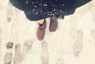 雪,長靴,大学生,就活,スーツ,就職活動