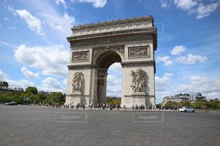 道,凱旋門,フランス,パリ,海外旅行,ラウンドアバウト
