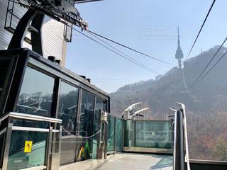 風景,韓国,海外旅行,ロープウェイ,ソウル,Nソウルタワー,ケーブルカー