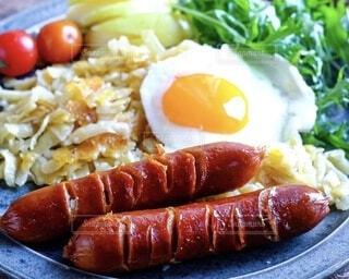 朝食,ワンプレート,肉,料理,朝ごはん,おいしい,テーブルフォト,モーニング,Snapmart,ソーセージ,アメリカン,ブランチ,肉汁,PR,ソーセージとマッシュ ポテト,ジョンソンヴィル