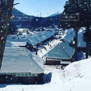 冬の大内宿の写真・画像素材[1800659]