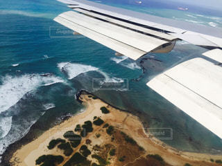 海,夏,海外,空の上,飛行機,旅行,ハワイ,おしゃれ,島国