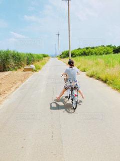 風景,自転車,景色,旅行,サイクリング,快晴,波照間島,シュガーロード,レンタサイクル,島一周