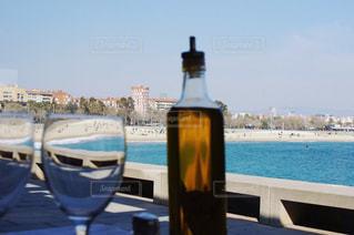 海,空,夏,青,結婚式,観光,外国,旅行,市場,ワイン,スペイン,バルセロナ,地中海,夏休み,シャンパン,ウェルカムドリンク,ワイングラス,式,caba