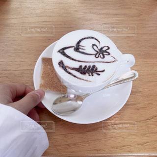 カフェ,コーヒー,茶色,ラテアート,ラテ,ベージュ,ミルクティー色