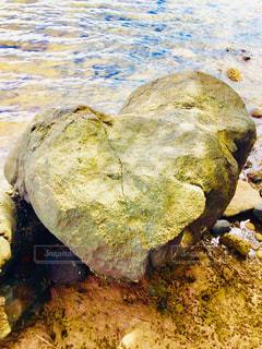 海,ハート,岩,石,マーク