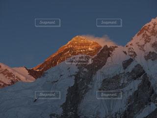 風景,夕暮れ,山,トレッキング,登山,海外旅行,ネパール,エベレスト,ヒマラヤ,エベレスト街道