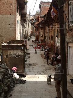 風景,建物,街並み,屋外,アジア,海外旅行,通り,ネパール,田舎町