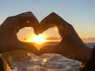 海,LOVE,朝日,ハート,正月,お正月,元旦,日の出,新年,初日の出,元日