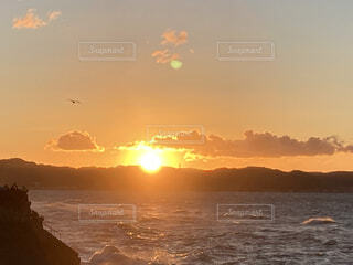 海,朝日,正月,お正月,元旦,日の出,新年,初日の出,元日