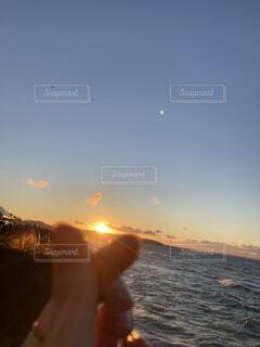 朝日,正月,お正月,日の出,新年,初日の出,指ハート