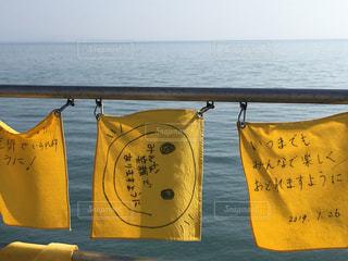 幸せの黄色いハンカチの写真・画像素材[1841924]
