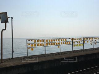 風景,海,空,駅,黄色,旅行,ハンカチ,ホーム,黄色い,幸せの黄色いハンカチ,海面幸せ