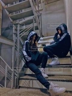 階段1コマフォトの写真・画像素材[2748123]