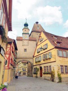 風景,時計,ドイツ