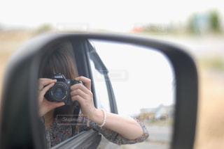 車の側面鏡の写真・画像素材[2268395]