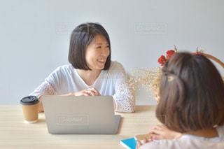 ノートパソコンと女性の写真・画像素材[2312454]
