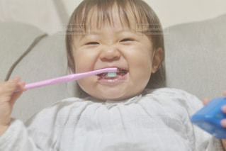 ニコニコ歯みがきの写真・画像素材[2440443]