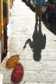 風船散歩の写真・画像素材[4507942]