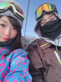 スキー場にてカップルの写真の写真・画像素材[1845969]