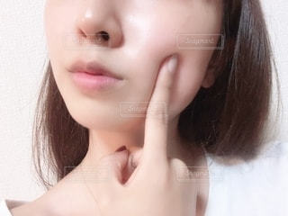 すっぴん肌の写真・画像素材[2293761]