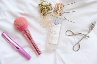 ピンク,ドライフラワー,香水,美容,コスメ,化粧品,置き画,マスカラ