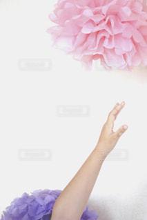 花を持っている手の写真・画像素材[1884389]